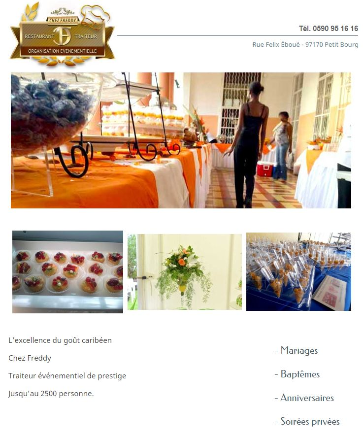 chez freddy guadeloupe1 mariage guadeloupe facebook - Traiteur Mariage Guadeloupe