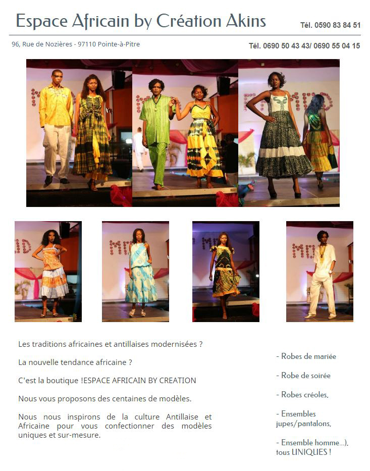 espace africain by cration - Traiteur Mariage Guadeloupe