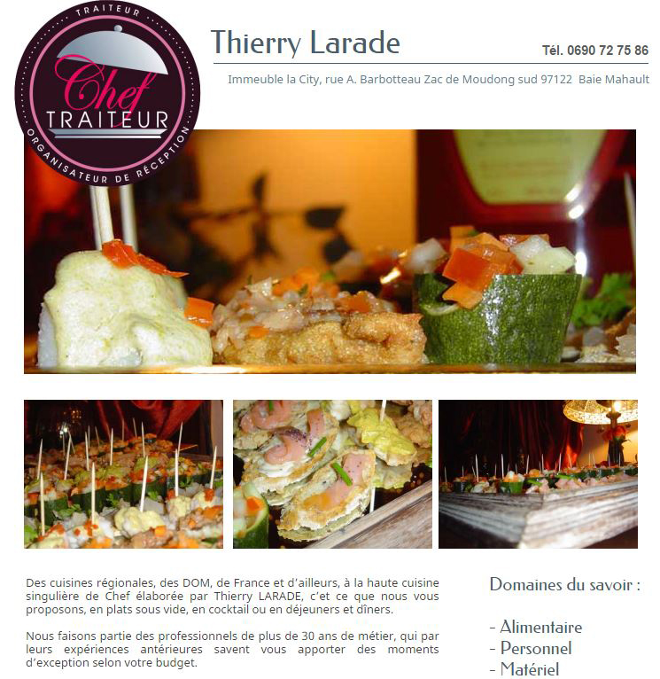 CHEF TRAITEUR THIERRY LARADE