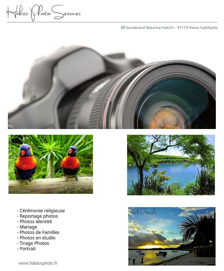 HABISS PHOTO SERVICES GUADELOUPE