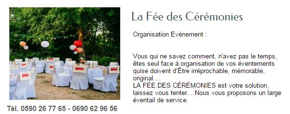 LA FEE DES CEREMONIES