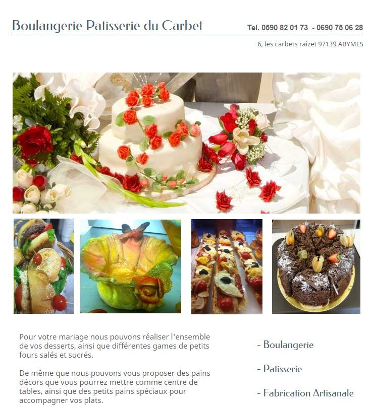 PATISSERIES LES CARBETS GUADELOUPE